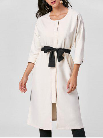 Hot Side Slit Tie Belt Trench Coat