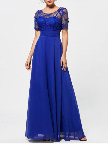 Sale Floral Lace See Thru A Line Prom Evening Dress