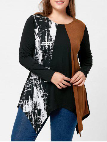 Unique Plus Size Long Sleeve Handkerchief Tee