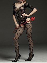 Sheed Fishnet Cut Out Bodystockings - Noir TAILLE MOYENNE