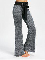 Large Drawstring Casual Pants with Long Tail -