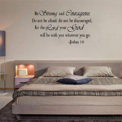 Motto Words Printed Wall Sticker - BLACK