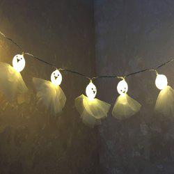 Halloween Party Decor Cartoon Ghost Shape String Lights -