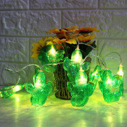 Battery Operated LED Cactus Shaped String Lights -