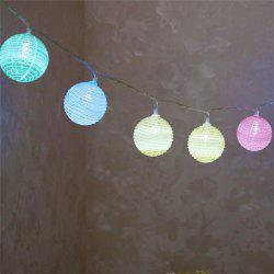 Colorful Cracked Ball Shape LED String Lights - COLORFUL