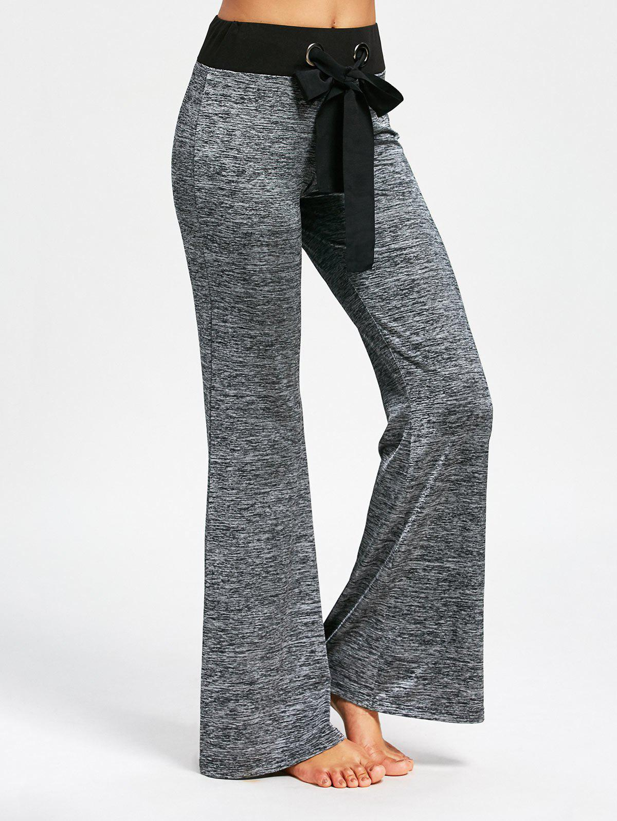 Large Drawstring Casual Pants with Long TailWOMEN<br><br>Size: L; Color: SMOKY GRAY; Style: Casual; Length: Normal; Material: Polyester,Spandex; Fit Type: Regular; Waist Type: Mid; Closure Type: Elastic Waist; Front Style: Flat; Pattern Type: Solid; Embellishment: Bowknot; Pant Style: Straight; Elasticity: Elastic; With Belt: No; Weight: 0.3600kg; Package Contents: 1 x Pants;