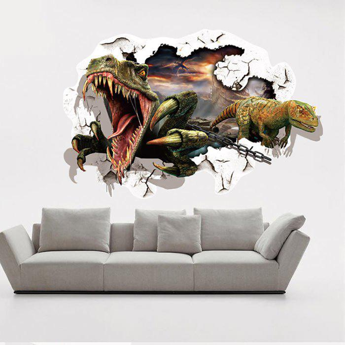 Dinosaurs Printed Home Decor Wall StickerHOME<br><br>Color: COLORMIX; Wall Sticker Type: Plane Wall Stickers; Functions: Decorative Wall Stickers; Theme: Animals; Pattern Type: Animal; Material: PVC; Feature: Removable; Size(L*W)(CM): 90 x 60; Weight: 0.3000kg; Package Contents: 1 x Wall Sticker;