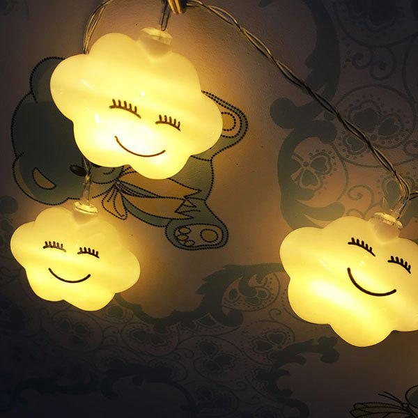 Cute Cloud Shape LED String LightsHOME<br><br>Color: WHITE; Products Type: Decorative Light; Materials: Plastic; Style: Novelty; Occasion: Bedroom,Living Room,Party Supplies; Weight: 0.2100kg; Size(CM): 100CM; Package Contents: 1 x String Lights;