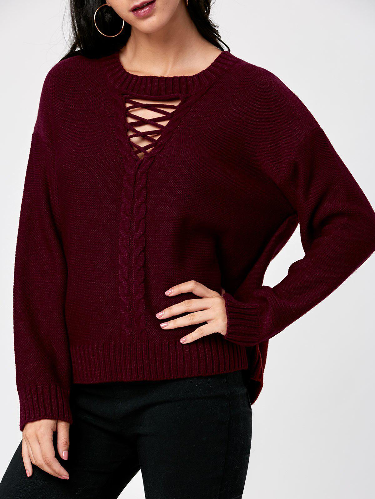 New Keyhole Neck Cable Knit Sweater