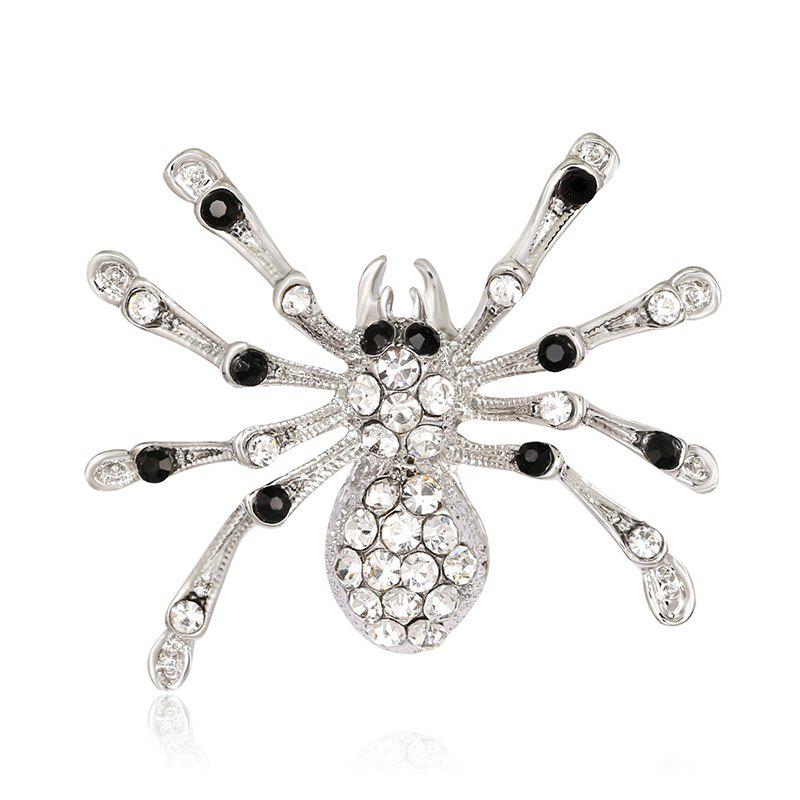 Fancy Halloween Rhinestones Spider Shape Brooch