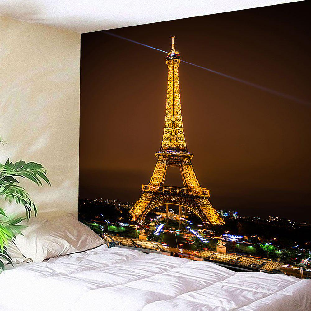 Waterproof Eiffel Tower Pattern Wall Hanging TapestryHOME<br><br>Size: W79 INCH * L79 INCH; Color: COLORFUL; Style: Europen Style; Material: Velvet; Feature: Removable,Washable,Waterproof; Shape/Pattern: Buildings; Weight: 0.4200kg; Package Contents: 1 x Tapestry;