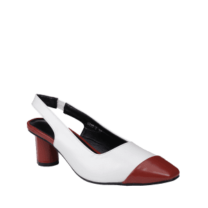 Slingback Color Block Pumps - RED 37
