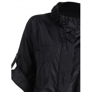 Bouton Plus Size Up Pocket Jacket - Noir 3XL