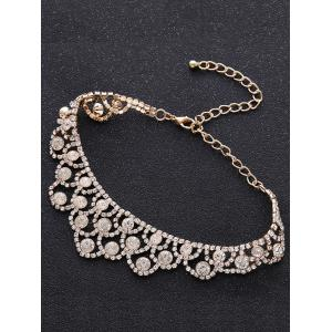 Collier brillant en alliage strass brillant - Or