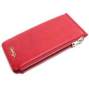 Zip Faux Leather Wallet -