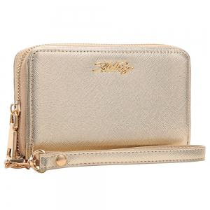 Zipper Around Faux Leather Letter Clutch Bag -