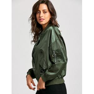 Zip Up Bomber Jacket -