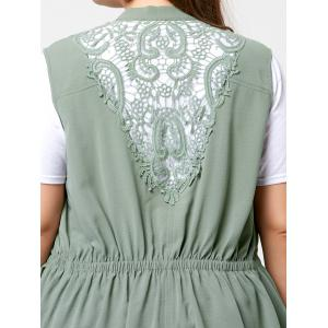 Plus Size Lace Panel  Waterfall Wasitcoat -