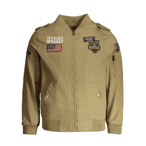 Applique Enbroidered Bomber Jacket -