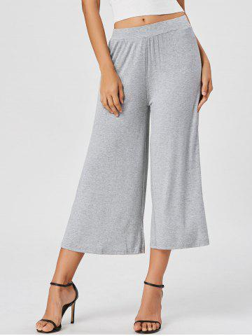 Outfit High Waisted Wide Leg Ninth Pants GRAY M