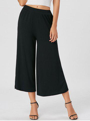 Affordable High Waisted Wide Leg Ninth Pants - 2XL BLACK Mobile