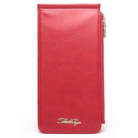 Fancy Zip Faux Leather Wallet