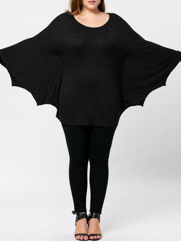 Hot Plus Size Batwing Top