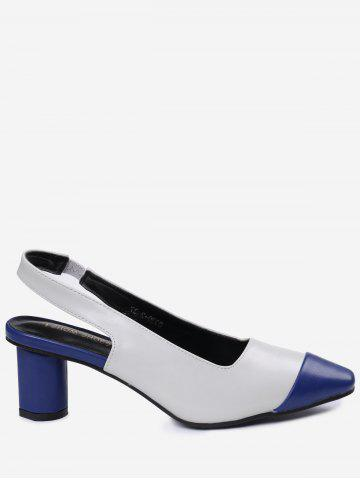 Store Slingback Color Block Pumps