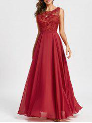 Lace Panel Bridal Wedding Evening Dress -
