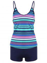 Striped Boyshorts Cami Tankini Set -