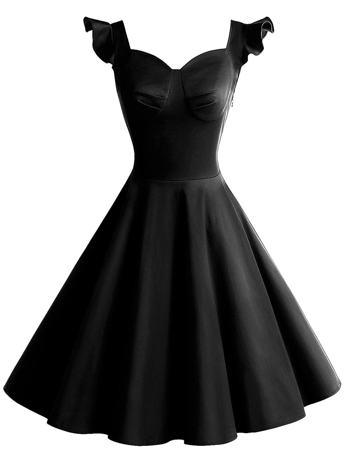Best Vintage Cut Out Flounce Pinup Dress