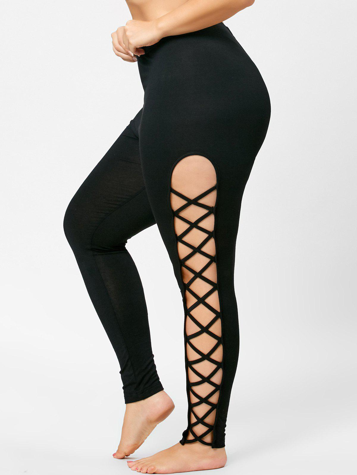 Hot Plus Size Sides Cut Out Leggings