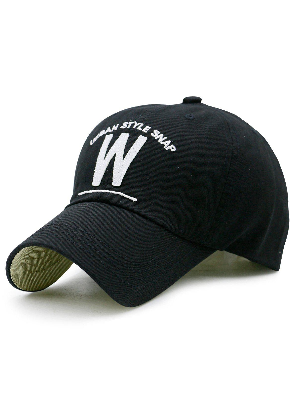 Trendy Embroidery and W Shape Baseball Hat