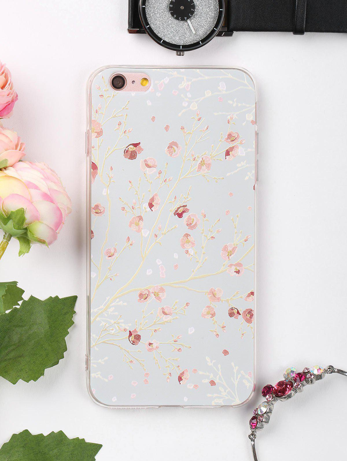 69 Off Branch Floral Pattern Soft Phone Case For Iphone Rosegal