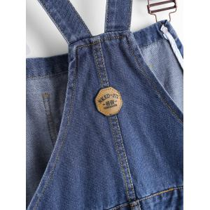Plus Size Ripped Denim Overalls - BLUE 3XL