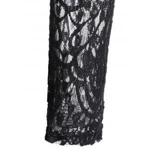 A Line Lace Dress with Sleeves - Noir L