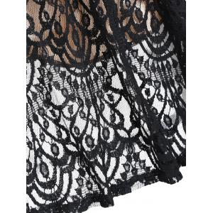A Line Lace Dress with Sleeves - Noir XL