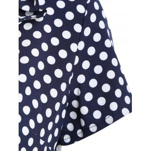 Polka Dot Ruffles Short Dress -