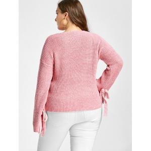 Pull taille col à manches longues -