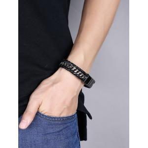 Bracelet Braid Cool Faux Leather -