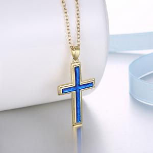 Collier en acrylique Insert Cross Pendant -