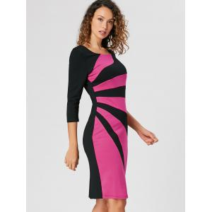 Work Color Block Bodycon Dress -