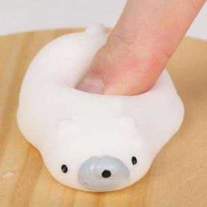 3Pcs Polar Bear Stress Relief Squeeze Squishy Toys -