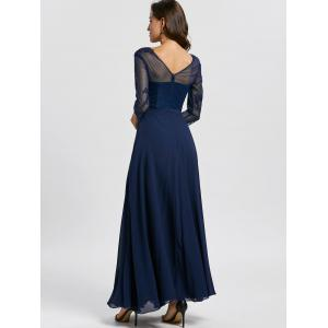 Maxi Bowknot V Neck Evening Dress -