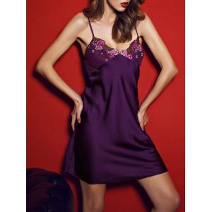 Satin Slip PJ Dress with Wrap Robe -