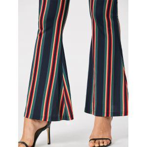 Vertical Striped Flare Pants - COLORMIX M