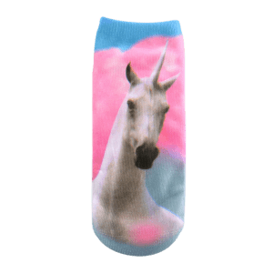 Magical Unicorn Pattern Ankle Socks - SHALLOW PINK