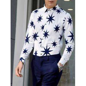 8 Point Star Long Sleeve Plus Size Shirt -