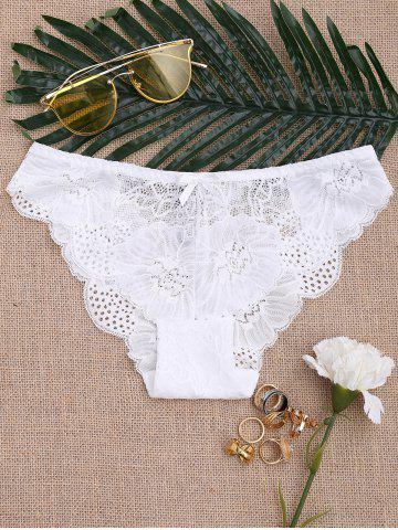New Sheer Lace Panties - M WHITE Mobile