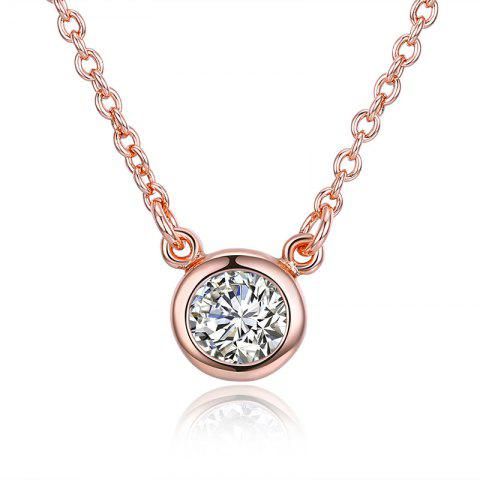 Collier pendentif en cristal brillant strass Or Rose